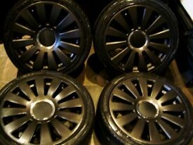 "18"" 5x100 5x112 Audi RS8 S8 Alloy wheels black vw seat skoda golf a3 a4 Leon"