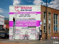 CAR SCRAP AGENTS WANTED ASAP | 1200+ LEADS A WEEK | CALL NOW 0207 097 0197 | RHINO CAR SCRAP