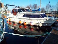 Birchwood 33ft Cabin Cruiser. 4 Berths in 2 Cabins. Twin 80HP Inboard Diesel Engines