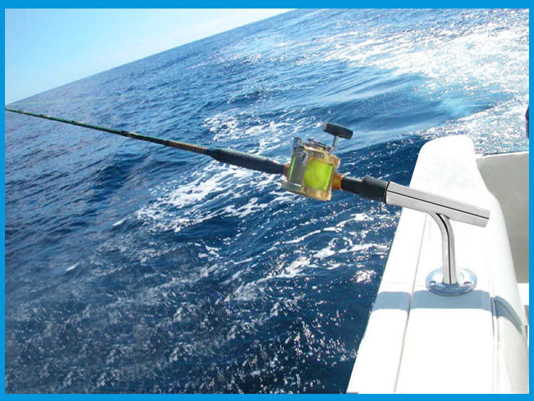 Stainless Steel Outrigger Fishing Rod Holder With Deck Mount