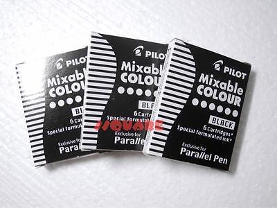 3 Boxes 18 Ink Cartridges Pilot Special Formulated Ink For Parallel Pen Black
