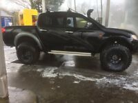 Mitsubishi L200 Pick Up Double Cab Monster Truck Off Roading Tyres Snorkel