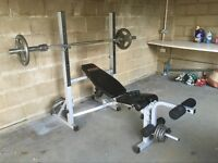 York Fitness Bench with weights