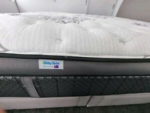 Ensemble King size Bed with a MySide mettress for immediate sale