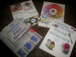 Various Watercolour Books, Paper Crafts