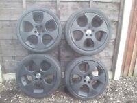 "17"" GTI Monza 5x100 Alloy wheels - golf mk4 - Black"
