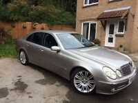 Mercedes E500 300+Bhp Silver 2002 Private Plate, Low Miles , Will swap/px