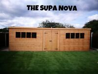 LARGE 22FTX10FT SUPERNOVA STORAGE SHED TIMBER TONGUE AND GROOVE DOUBLE DOORS ASSEMBLED/INSTALLED