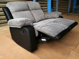 2 Seater Recliner Sofa - Charcoal.