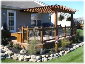 Yardscaping, Deck, Pergola, Steps and Stairs. Complete & Custom.