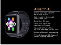 Ai smart watch iOS & Android compatible sim card slot water resistant BRAND NEW Black or Silver