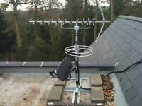tv aerial freeview hd install from £40 and cctv installations sky repair digital wall bracket lnb