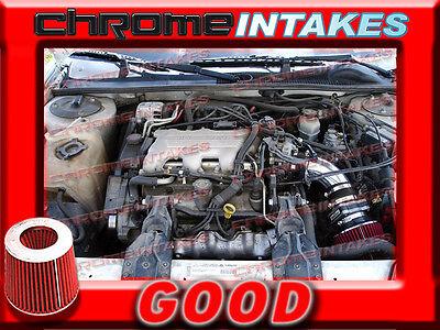 BLACK RED 96  1996 PONTIAC GRAND PRIX ALL MODELS 31 31L V6 AIR INTAKE KIT TB