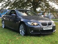 "BMW E92 330i M-Sport Auto 72k fsh mot nav 19"" red leather"