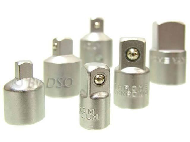 7 Piece Chrome Vanadium Socket Adaptor Set