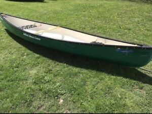 Black Spruce 15ft Canadian Model Ultra Lite Fiberglass Canoes