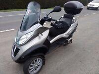 Vespa piaggio mp3 300cc RIDE ON A CAR LICENCE for sale or swap