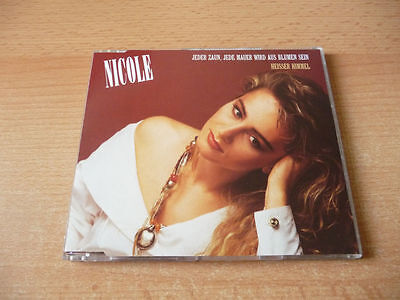 Single Zaun (Single CD Nicole - Jeder Zaun, jede Mauer wird aus Blumen sein - 1990 - RARE)