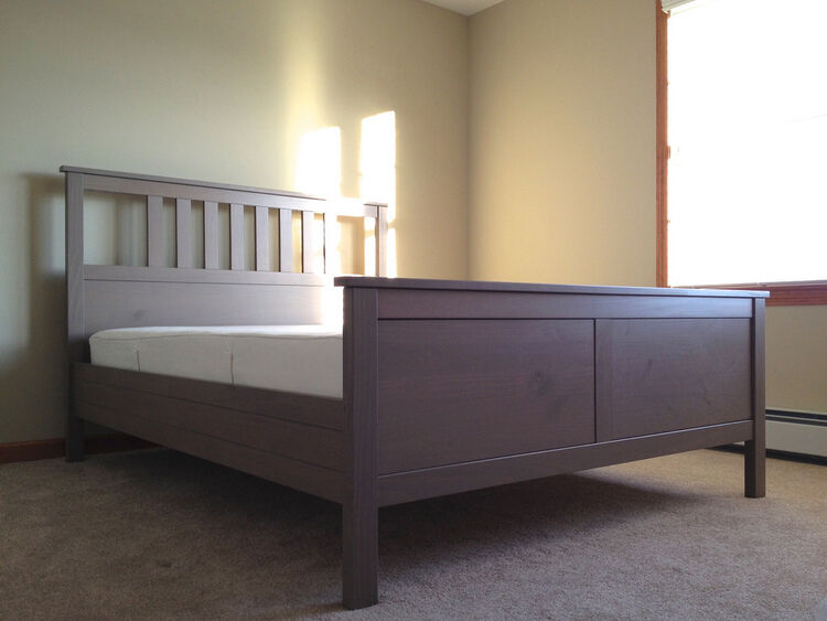 king size ikea hemnes bed grey brown in weymouth dorset gumtree. Black Bedroom Furniture Sets. Home Design Ideas