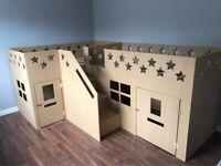 Amazing double bunk-bed/ play den