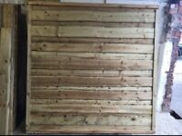 🌹Heavy Duty Timber Wayneylap Fence Panels • Pressure Treated
