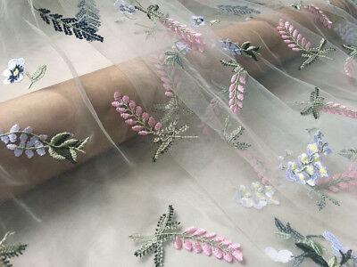 Stickereien Brautkleid Spitze Stoff Blüte Brautkleid Kostüm DIY Tüll 0.5 Y