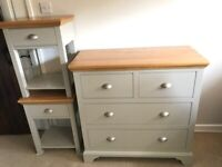 Chest of Drawers and x 2 Bed Side Tables