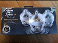 Tommy tippee closer to nature bottles x 3