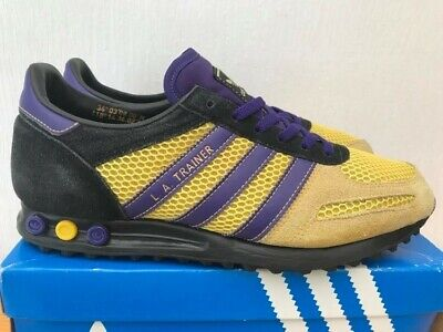 Adidas Originals LA Trainer OG Lakers 8 42 NBA Vintage RARE Consortium