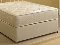 """Brand new single divan bed, 12"""" deep medium/firm mattress £195 still in wrapping."""