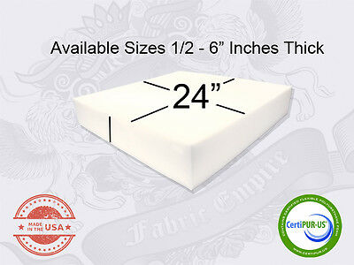 "24"" x 24"" Square Upholstery Cushion Replacement Foam Sheet -"