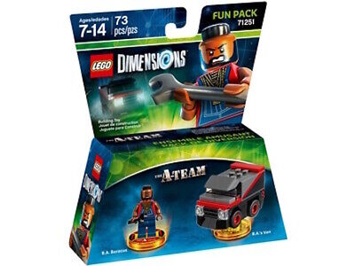 BRAND NEW SEALED LEGO DIMENSIONS THE A TEAM 71251 B A BARRACKS AND B.A'S VAN