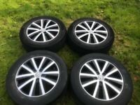Genuine VW Transporter T6 load rated alloy wheels with tyres