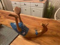 Drunk wooden Duck Bottle Holder