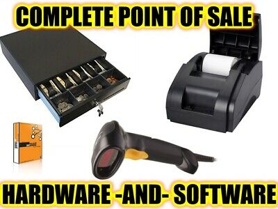 Complete Quickbooks Pos Compatible Hardware Bundle Combo Drawer Printer Scanner