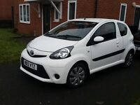 13 TOYOTA AYGO ICE 1.0 SPECIAL EDITION PART LEATHER PARKING SENSORS £0 TAX. BLUETOOTH 37K FSH £3274