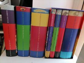 Harry Potter JK Rowling hardback books, 1 to 7, box set + 3 First Editions