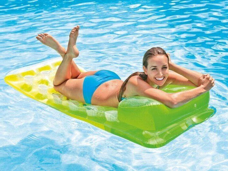 INTEX Luftmatratze m. Kissen Lounge Pool Wasser Liege Strand 188x71 TOP bequem