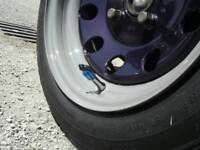 """Set of 5, 14"""" Weller steel wheels, 4x 108 pcd, spacers and bolts"""