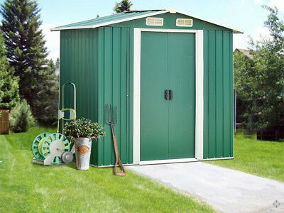 Outdoor Metal Garden Storage Shed Utility Tool Backyard Lawn Waterproof Garage