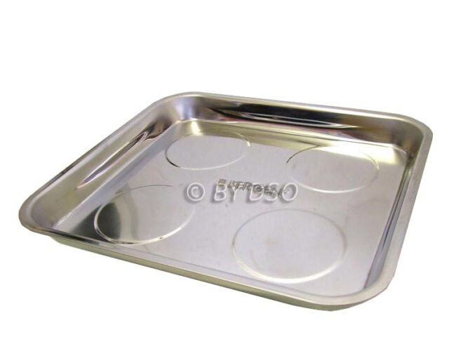 BERGEN 270 x 290mm Heavy Duty Magnetic Parts Tray with Rubber Non Scratch Base