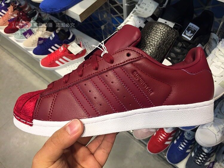 1710 ADIDAS SUPERSTAR BZ0644 COLLEGIATE BURGUNDY WOMEN'S RUNNING SHOES