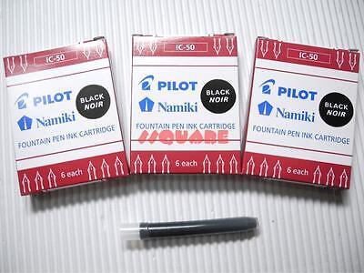 72 X Pilot Ic-50 Namiki Fountain Pen Ink Cartridges 78g Prera Black 12 Boxes