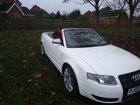 Audi a4 s line convertible in white 2.5tdi