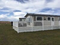 Caravan for hire at Silversands Lossiemouth