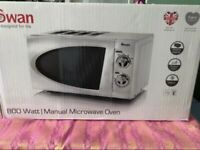 White microwave (new and in box)