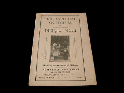 COUNT PHILIPPE NICOL MIDGET BOOKLET ~ BIOGRAPHICAL SKETCH