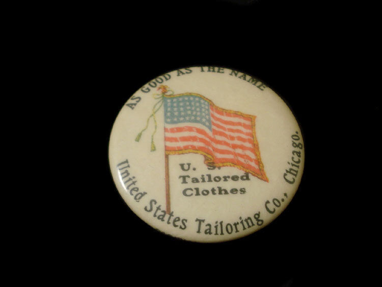 CELLULOID POCKET MIRROR ~ CHICAGO ILLINOIS UNITED STATES TAILORING CO