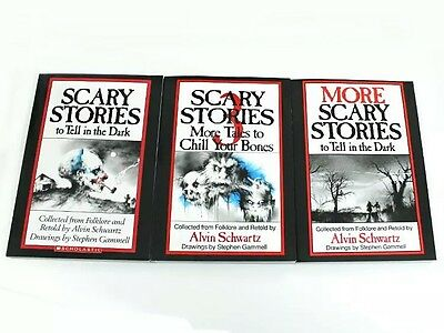 3 Book Set SCARY STORIES to Tell in the Dark Childrens Alvin Schwartz Gift NEW!!