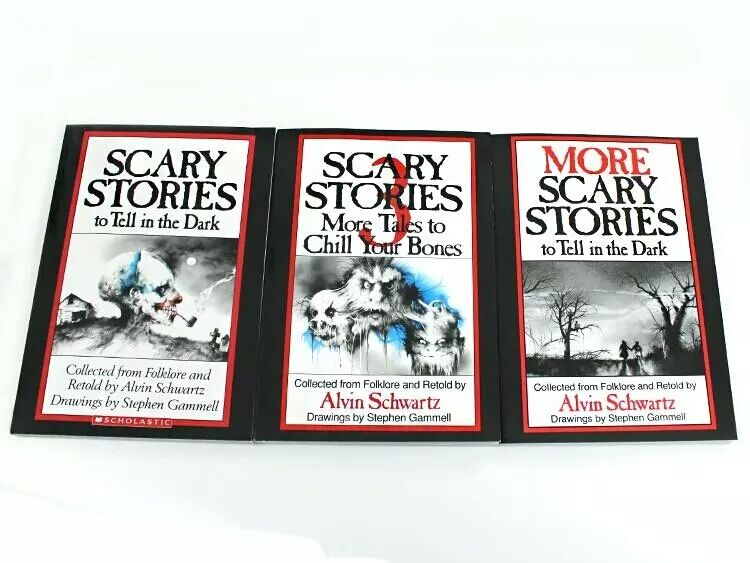 Scary Stories to Tell in the Dark 3 Book Set Childrens Alvin